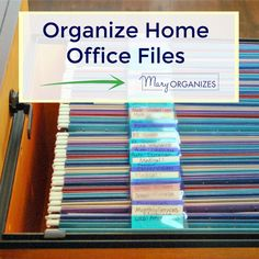 Manager office Paper Clutter - Organize Home Office Files (Paper Management. Filing Cabinet Organization, File Folder Organization, Office Organization At Work, Organizing Paperwork, Clutter Organization, Household Organization, Organization Ideas, Filing Cabinets, Organization Station