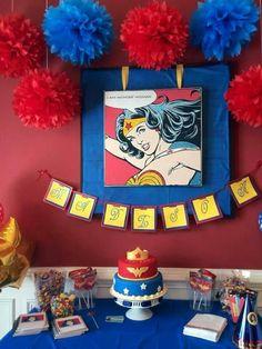 Wonder Woman Birthday, Wonder Woman Party, Birthday Woman, Bday Girl, Little Girl Birthday, 6th Birthday Parties, Birthday Fun, Girl Superhero Party, Party Time