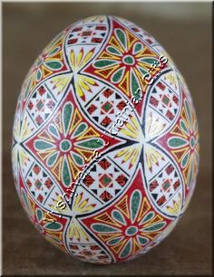 Ukrainian Chicken Pysanka High Quality Easter Egg