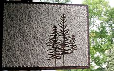 "Tree String Art | 26""x18"" Pine Tree String Art 
