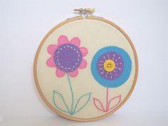 Dizzy Miss James | Flower Design - Hand Embroidery Hoop Art