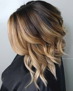 Popular hair color trends by 30 popular sombre ombre hair for 2019 best hai Hair Color Highlights, Ombre Hair Color, Cool Hair Color, Diy Ombre Hair, Brunette Highlights, Blonde Brunette, New Short Haircuts, Short Hair Cuts, Short Hair Styles