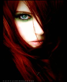 a sucker for green eyed red heads