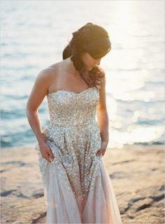 Gorgeous metallic dress #fashion