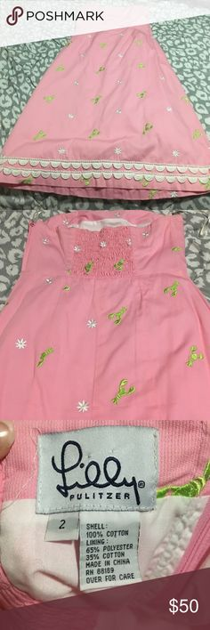 Lilly dress bought on posh with tags but took the tags off. Ended up not fitting. size 2. Lilly Pulitzer Dresses Strapless
