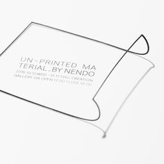 un-printed material|EXHIBITION | Creation Gallery G8