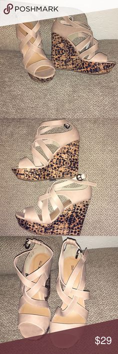 Call it Spring Wedges In new condition 4 1/2 inch heel Call It Spring Shoes Wedges