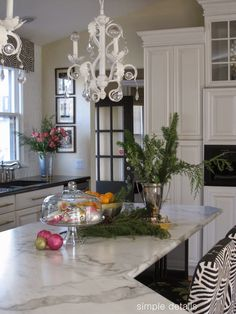 Pam from Simple Details still loves her Formica 180fx Calacatta Marble countertops from the One Room Challenge ------ Holiday Open House-Pam from Simple Details   11 Magnolia Lane