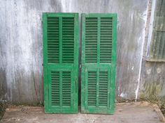 Your place to buy and sell all things handmade Architectural Salvage, Architectural Elements, Old Shutters, Shutter Doors, Decorative Items, Tall Cabinet Storage, Home And Garden, Wall Decor, Outdoor Structures