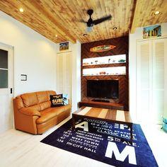 mjea420surfさんの、サーファーズインテリア,ヘリンボーン,ヘリンボーン壁,サーファーズハウス,スポット照明,カリフォルニアスタイル,california style,california,American,西海岸スタイル,californiahouse,LIXIL,アメリカンスタイル,カリフォルニア風,リビング,のお部屋写真