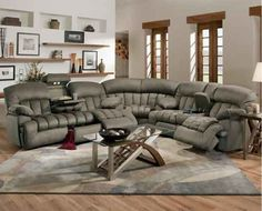 The awesome recliner couch that's kind of like an ugly puff of gray air. | 30 Impossibly Cozy Places You Could Die Happy In