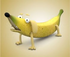 Rusty Canyon and the Banana Boys - Banana, What a Crazy Fruit Banana Picture, Funny Topics, Banana Art, Arte Dachshund, Art Pictures, Fruit, Amazing, Kids, Character