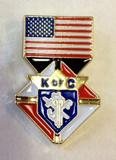 **SPECIAL OFFER** Gold Plated Lapel Pin. Knights Of Columbus, Lapel Pins, Plating, Gold, Badges, Yellow