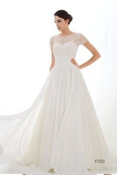 Lace wedding dress bridal dress with Chantilly by WHITECOUTURE