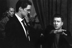A young David Lynch with Kyle Maclachlan on the set of Twin Peaks