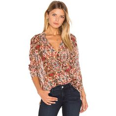 BCBGeneration Surplice Blouse ($69) ❤ liked on Polyvore featuring tops, blouses, fashion tops, cross over top, surplice blouse, surplice top, see through tops and bcbgeneration
