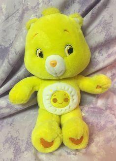 "Care Bears FUNSHINE BEAR 2007 - 15"" Plush Stuffed Animal Sun Smile Yellow #CareBears #AllOccasion"
