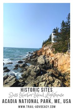 Acadia National Park is home to 3 lighthouses, but only 1 is accessible by car: Bass Harbor Head Lighthouse. It is nestled on the tip of Southwest Harbor along the rocky beach. It's such a beautiful spot to take in the ocean! #acadianationalpark #acadia #hiking #maine Usa Travel Guide, Travel Usa, Travel Info, Travel Tips, National Parks Usa, Acadia National Park, Lighthouse Trails, United States Travel, Amazing Adventures