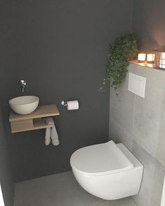 Stylish Bathroom Remodeling Ideas You'll Love is part of Small toilet room Low maintenance and easy to clean bathroom design can be pretty simple, for bith renovations and new homes Things you - Small Toilet Room, Stylish Bathroom, Small Toilet, Small Downstairs Toilet, Bathroom Interior, Small Bathroom, Toilet, Toilet Design, Bathroom Decor