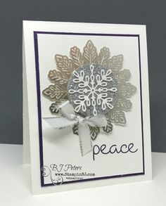 Snowflake Sentiments, Year of Cheer, Stampin' Up!, BJ Peters