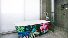 Kingi & Caro's bathroom, as shown on #theblock's master ensuite room reveals.