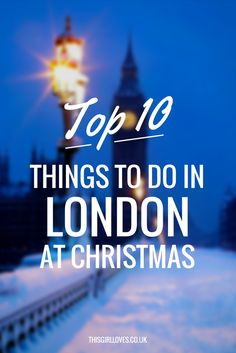 Unique and Different Things to do in London at Christmas