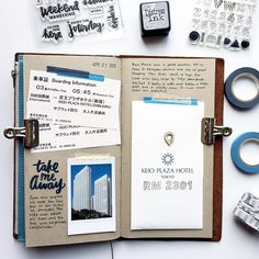Tokyo Scrapbook in my Midori Traveler's Notebook