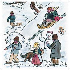 Josef Lada Painters, Illustrators, December, Clip Art, Comics, Christmas, Xmas, Illustrator, Navidad