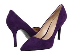 "$44.99 Nine West Flax Dark Brown Leather - 6pm.com in ""Purple Suede"""