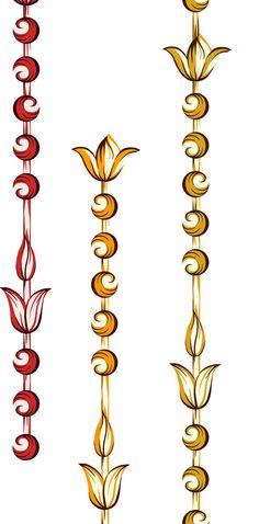 Boarder Designs, Border Embroidery Designs, Motif Design, Textile Design, Flower Png Images, Baroque Pattern, Design Seeds, Egyptian Art, Future Fashion