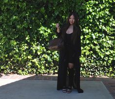 Black Long Sleeve Duster - Tia Alese Wong