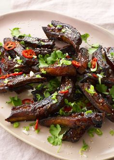 Nadiya's Asian-style lamb ribs are a twist you'll want to get on board with. Slow-cooked for tenderness, then glazed and fast-roasted for sticky sweet crispness. Lamb Recipes, Meat Recipes, Indian Food Recipes, Cooking Recipes, Healthy Recipes, Turkish Recipes, Slow Cooking, Online Recipes, Cooking Oil