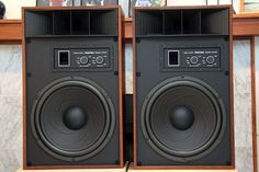 Realistic Mach One speakers...I know...they're from Radio Shack. But they are monster speakers that sound great. 70's vintage stereo gems.