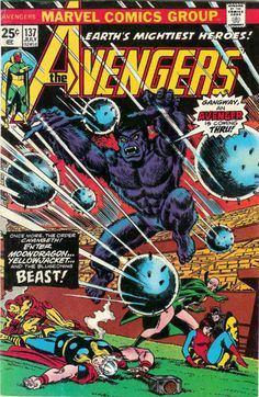 Beast makes his Avengers debut! Issue 137, 1975.