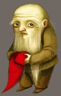 "SNOW WHITE, BY BENJAMIN LACOMBE.  One of the Seven Dwarves; most likely ""Bashful""."