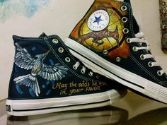 f77d214760fa The Hunger Games | 15 Unique Customized Converse Sneaker Designs Converse  Shoes High Top, Cool