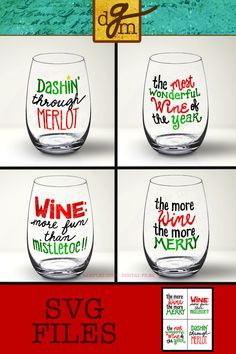 Eat, drink, and be merry! This set of Funny, Christmas Wine Glass SVG Files makes that SO EASY! Cricut Christmas Ideas, Christmas Gifts For Sister, Christmas Vinyl, Funny Christmas Gifts, Christmas Humor, Homemade Christmas, Christmas Projects, Christmas Decorations, Wine Glass Sayings