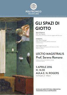 """MedioEvo Weblog: """"Gli spazi di Giotto"""" lectio magistralis al Politecnico di Milano"""