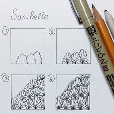 Sanibelle - zentangle, tangle