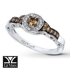 LeVian Chocolate Diamonds 1/3 ct tw Ring 14K Vanilla Gold ( the last peice to my set)