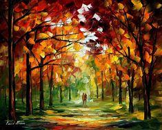 Forest of dreams by Leonid Afremov by Leonidafremov.deviantart.com on @DeviantArt