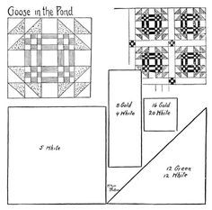 Quilt pattern: Goose in the Pond