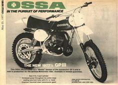 1977 Ossa 250 Phantom Ad - Vintage Motocross Machines