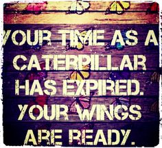 Ready to #embrace you're #wings? #AskCoachRoxy to begin #transforming! Because your time as a #caterpillar has officially #expired <3 #LifeCoach #TransitionalCoach #BeTheChange #Quote #WordsToLiveBy #Inspiring