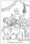 Harvest festival coloring page