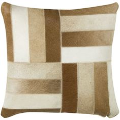 Rizzy Home Animal Print Patterned 18-inch Throw Pillow (18 Embroidered Animal Print Throw Pillow), Brown, Size 18 x 18