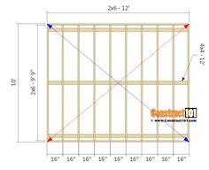 lean to shed plans - floor frame. Diy Storage Shed Plans, Building A Storage Shed, Shed Building Plans, Building Ideas, Building Design, 10x12 Shed Plans, Lean To Shed Plans, Wood Shed Plans, The Plan