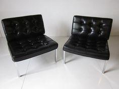 pair of vintage barcelona chairs mies van der rohe pinterest