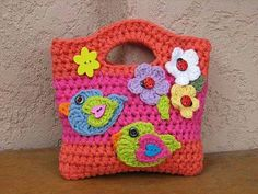 Sarung botol air minion crochet beg botol pinterest crochet girls bag purse with birds and flowers crochet pattern pdfeasy ccuart Image collections