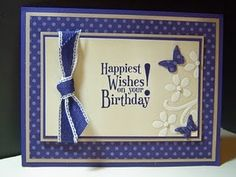 SU card - using Concord Crush, and a wee bit of the Elegant Bouquet folder, and lot of layers